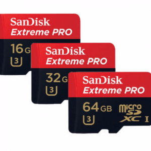 SanDisk 16GB Micro SD Extreme Pro Memory Card