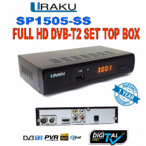 Uraku SP1505-SS Full HD DVB-T2 Set Top Box