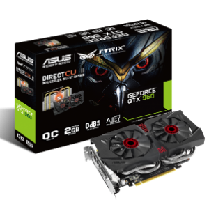 Asus GeForce GTX960 STRIX DC2 OC 2GB GDDR5 Graphics Card