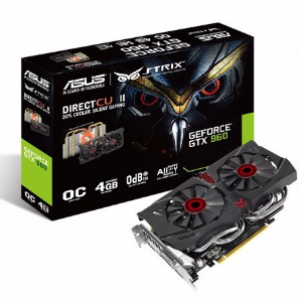 Asus GeForce GTX960 STRIX DC2 OC 4GB GDDR5 Graphics Card