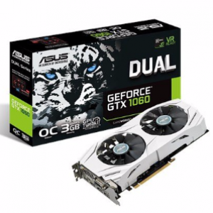 Asus GeForce GTX1060 DUAL OC 3GB GDDR5 Graphics Card (DUAL-GTX1060-O3G)