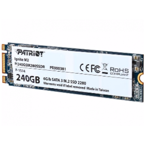 Patriot 240GB Ignite SSD mSATA & M.2 2280