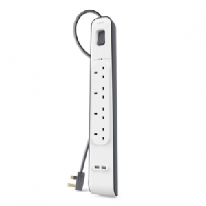 Belkin 4 Sockets + 2 USB / 2-metre cable Power Protection