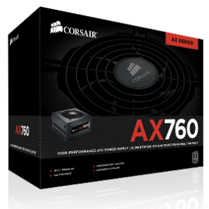 Corsair AX760 760W Fully Modular 80+ Platinum Power Supply