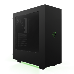 NZXT S340 Razer Edition ATX Casing (Black/Green LED Matte) (CA-S340W-RA)