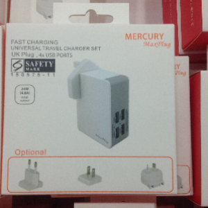 MERCURY MaxPlug 4 USB Universal Travel Charger