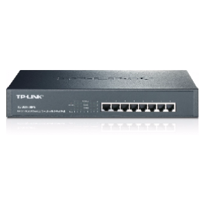 TP-Link SG1008PE 8-Port Gigabit Rackmount Switch w/ 8 Power Over Ethernet Ports