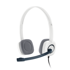 Logitech H150 Stereo Headset - Cloud White (981-000453)