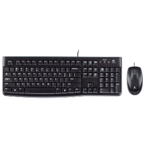 Logitech Desktop MK120 Keyboard w/ Wired Mouse