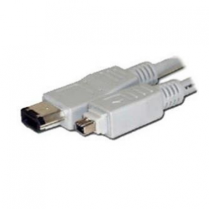 WCS 1m IEEE 1394A FireWire Cable - 4-pin/6-pin