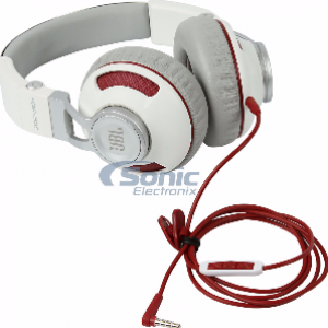 JBL Synchros S300i On-Ear Stereo Headphone White-Silver