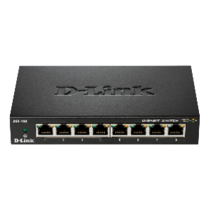 D-Link DGS-108 8-Port Gigabit Unmanaged Desktop Switch