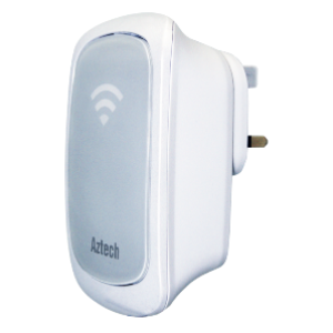 Aztech WL580E Aztech Wall-Plugged 300Mbps Dual Band Concurrent Wireless-N Repeater