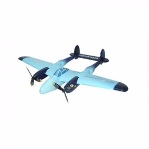 WX8804 EPP P-38 Lightning Twin Propeller Park Flyer (Blue)