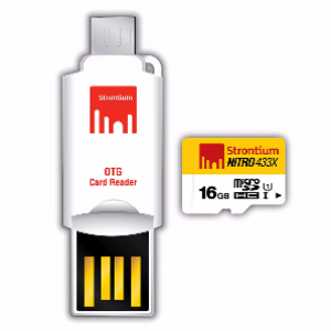 Strontium 16GB Nitro MicroSD Card with OTG Card Reader (SRN16GTFU1T)