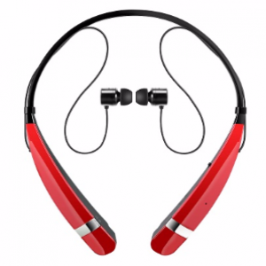 LG HBS-760 Tone Pro Bluetooth Wireless Stereo Headset (Red)