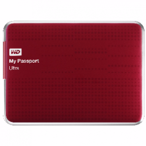 WD 2TB My Passport Ultra External Hard Drive (Red)