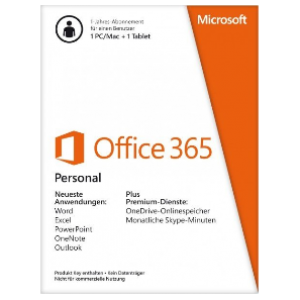 Microsoft Office 365 Personal 1Year/1PC+1Tablet