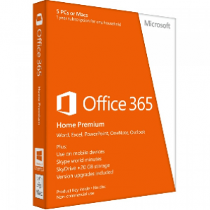 Microsoft Office 365 Home Premium 1Year/5PCs