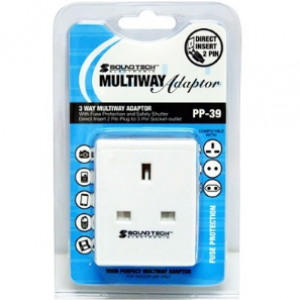 SoundTech PP-39 3 Way Multiway Plug (Retail)