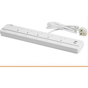 Schneider 6-way Surge w/ LED + 2 USB Surge & Extension