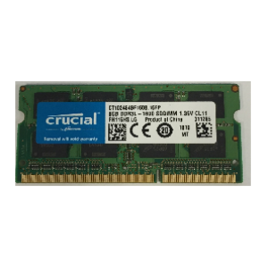 Crucial 8GB PC3-12800/1600MHz CL11 Mac Certified DDR3  Notebook RAM