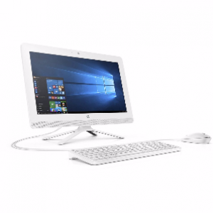 HP 20-E032D All-in-One Desktop PC (White)