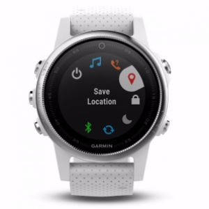 Garmin Fenix 5S GPS Smart Watch (White w/ Carrara White Band / 42 mm Diameter)