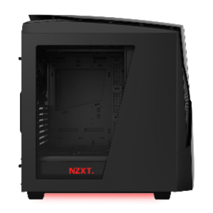 NZXT Noctis 450 ATX Mid Tower Casing (Black/Red LED Matte) (CA-N450-M1)