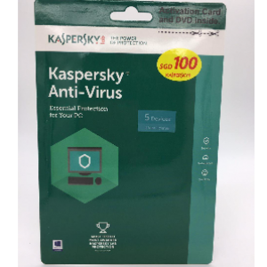 Kaspersky Anti-Virus 2017 Version 5Device/1Year License Essential Protection For Your PC