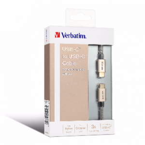 Verbatim 200cm USB-C to USB-C Sync and Charge