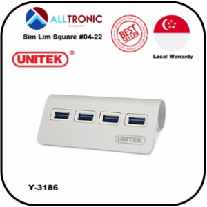 Unitek Y-3186 USB3.0 4Port Aluminium Hub ( Plug and Play)