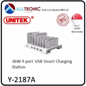 Unitek 36W 4-port USB smart Charging Station