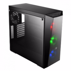 Cooler Master Masterbox Lite 5 RGB Tempered Glass ATX Chassis with Tempered Glass Side Panel
