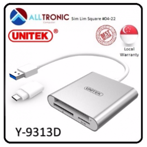 Unitek USB3.0 to Multi-In-One Aluminium Card Reader Unitek Y-9313D