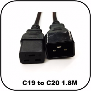 OEM C19 to C20 Power Extension Cable IEC 1.8Meter