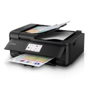 "Canon PIXMA TR8570 High-productivity, Wireless Office All-In-One with 4.3"" Touch-Screen, Auto Duplex Printing and Fax"
