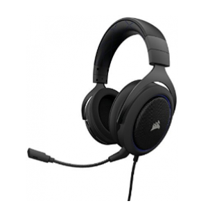 Corsair HS50 Stereo Gaming Headset — Blue (AP) - 0.56 KG (CA-9011172-AP)