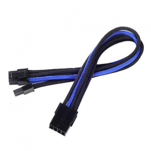 SilverStone PP07-PCIBA 250MM Black/Blue 8pin to PCI-E 8Pin(6+2) Connector