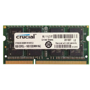 Crucial (CT8G3S160BM) 8GB DDR3L-1600Mhz SODIMM Memory for Mac