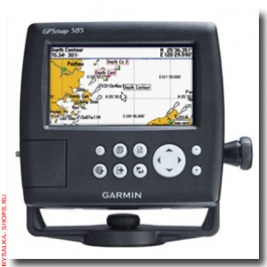 Garmin GPS MAP 585 With GA-38 Antenna And Transducer