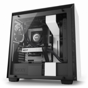 NZXT H700 ATX Mid-Tower Case with Tempered Glass - White (NZXT-CA-H700B-W1)