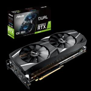 Asus Dual GeForce RTX2080 OC Edition 8GB GDDR6 Graphics Card (DUAL-RTX2080-O8G)