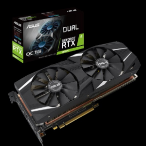 Asus Dual GeForce RTX2080Ti OC Edition 11GB GDDR6 Graphics Card (DUAL-RTX2080TI-O11G)