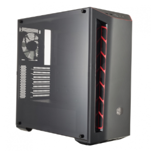 Cooler Master MasterBox MB510L Black and Red Windowed ATX Mid-Tower Desktop Case (MCB-B510L-KANN-S00)