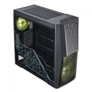 Cooler Master MasterBox MB500 TUF Edition Tempered Glass Black ATX Mid Tower Desktop Case (MCB-B500D-KGNN-TUF)