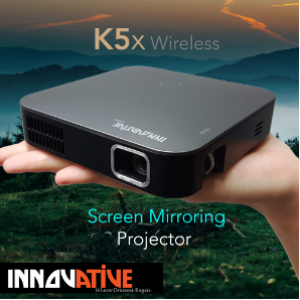 Innovative K5x Wireless Screen Mirroring Pocket Projector