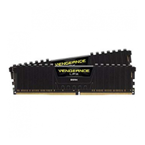 Corsair LPX 16GB (2x8GB) DDR4 DRAM 3000MHz C15 Memory Kit - Black (CS-CMK16GX4M2B300015)